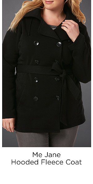 Me Jane Hooded Fleece Coat