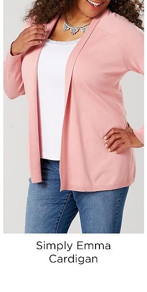 Simply Emma Women's Plus Cardigan