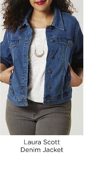 Laura Scott Women's Plus Denim Jacket