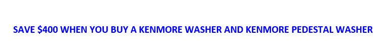 Save $400 off Kenmore washers