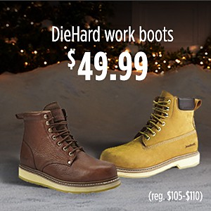 DieHard work boots, $49.99 (reg. $105–$110)