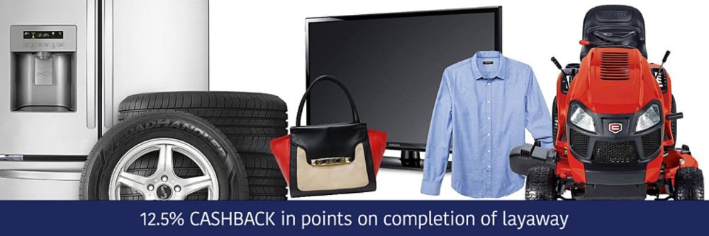 12.5% CASHBACK on completion of layaway