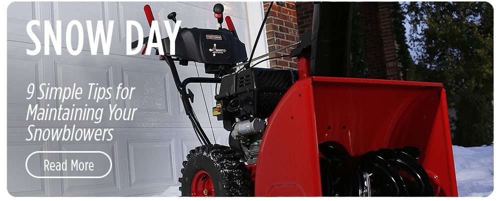 9 Simple Tips for Maintaining Your Snowblower
