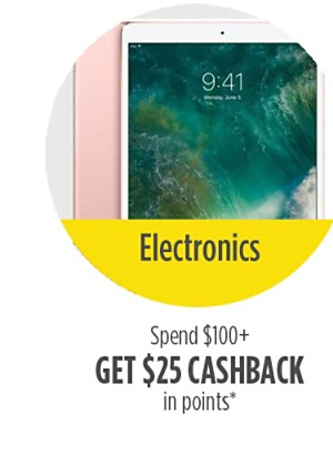 Spend $100 or more, get $25 cashback in points