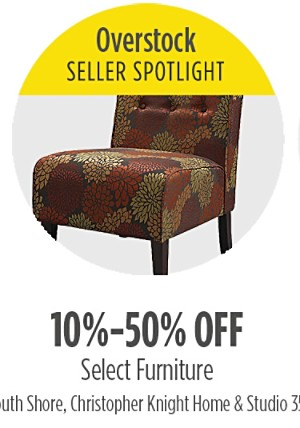 10-50% off select furniture