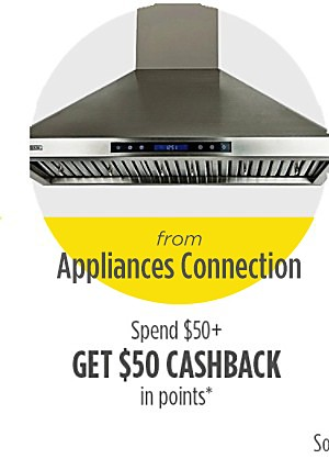 Spend $50 or more, get $50 cashback in points