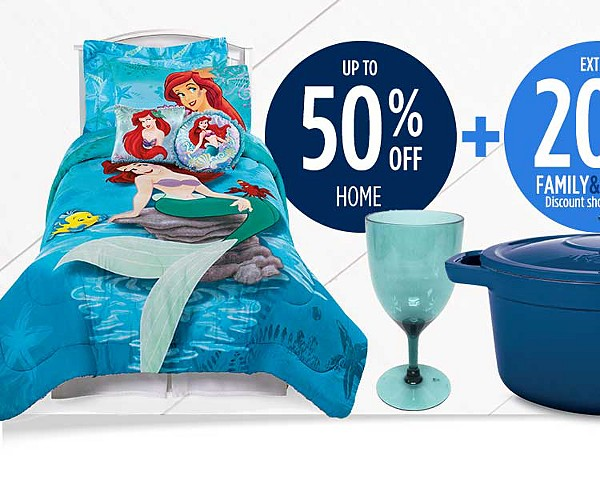 50% off home + extra 20% off for family & friends + $25 CASHBACK in points