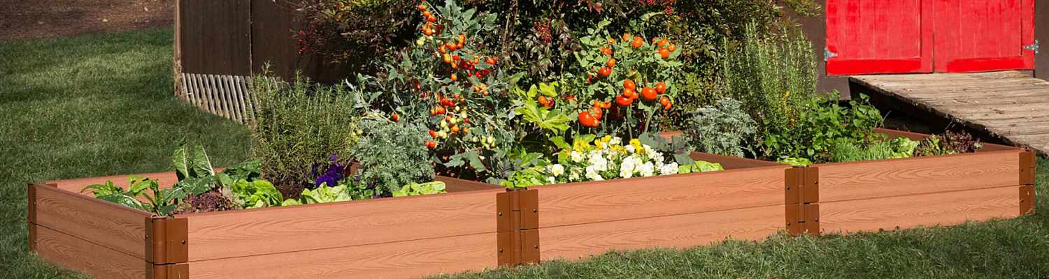 Multiple raised garden beds