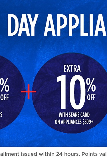 Veterans Day Event up to 40% off kenmore appliance plus an extra 10% off with sears card