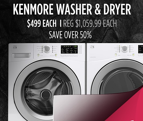 Kenmore front load washer and electric dryer $499 each
