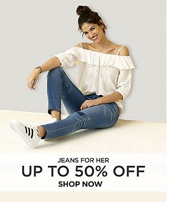 Up to 50% off jeans for her