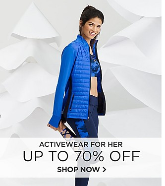 Activewear for her up to 70% off