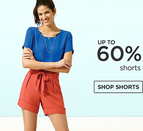 60% off shorts and tops. Shop shorts