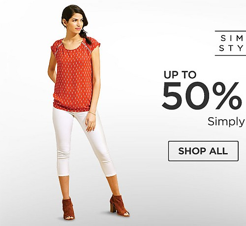 Up to 50% off Simply Styled. Shop All.