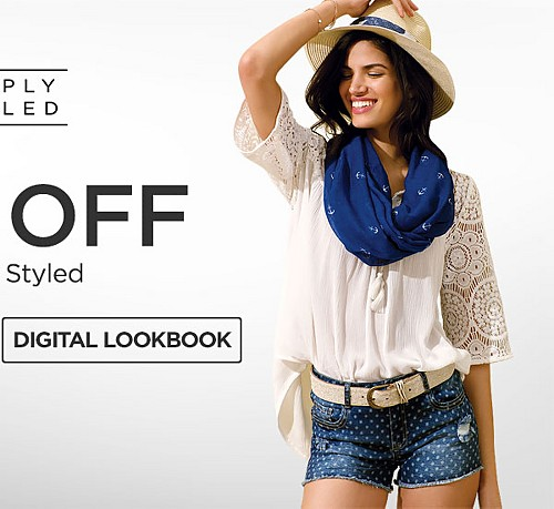 Up to 50% off Simply Styled. Shop Digital Lookbook.