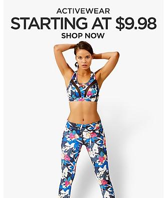Activewear starting at $9.98