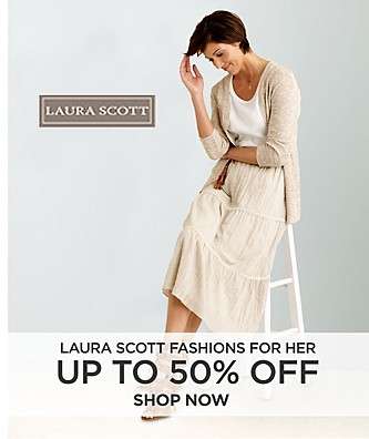 Up to 50% off Laura Scott fashions for her