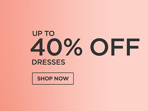 Save up to 40% off dresses