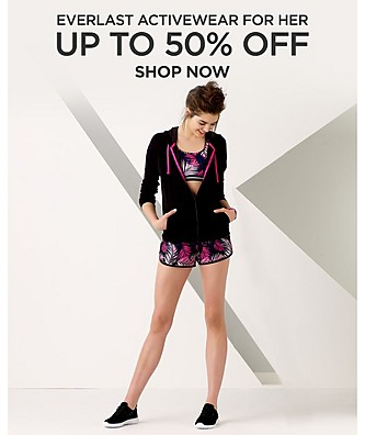 Everlast Activewear for her up to 50% off