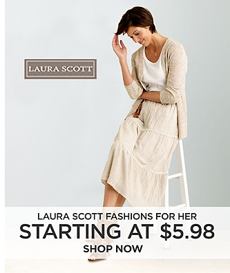 Laura Scott fashions for her starting at $5.98