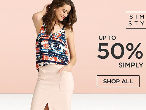 Simply Styled up to 50% off. Shop All.