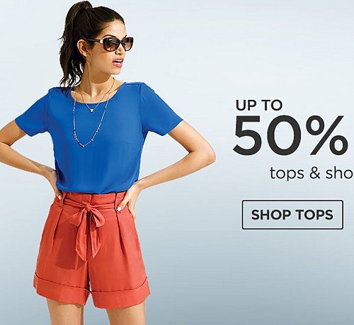 Up to 50% off tops and shorts for her