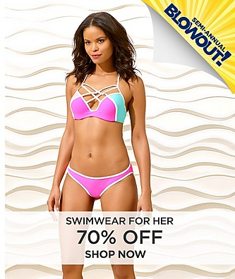70% off Swimwear for Her.  Shop Now