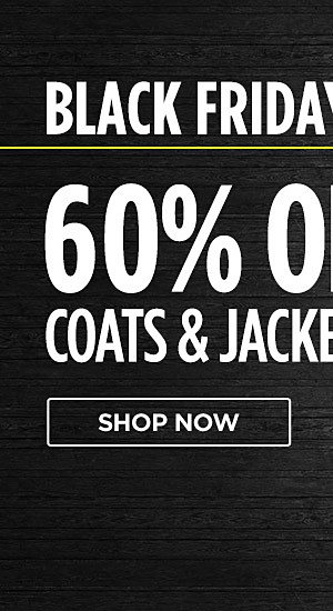 Black Friday online only! 60% off coats & jackets for her. Shop now
