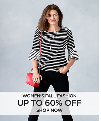 Up to 60% off Women's Fall Fashion