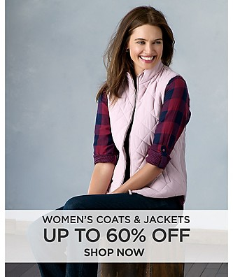 Up to 60% off Women's coats & jackets