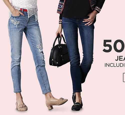 Up to 50% off Jeans for her including Lee, R1893 & more