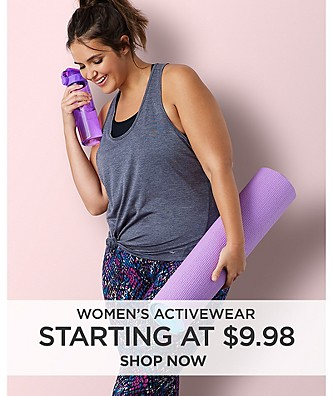 Women's Activewear starting from $9.98