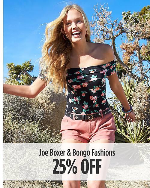 25% off Joe Boxer & Bongo Fashions