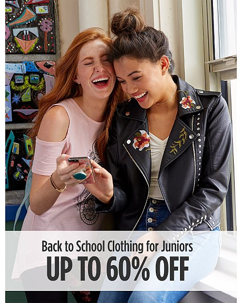 Back to School: Up to 60% Off Juniors Clothing