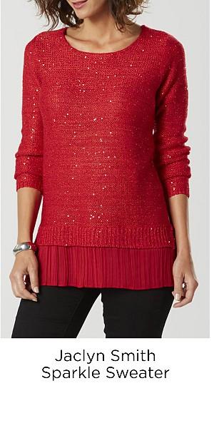 Jaclyn Smith Sparkle Sweater