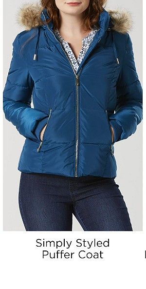 Simply Styled Puffer Coat