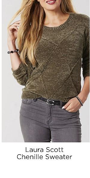 Laura Scott Chenille Sweater
