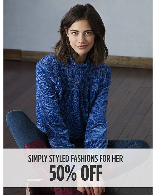 50% Off Simply Styled Fashions for Her. Shop now