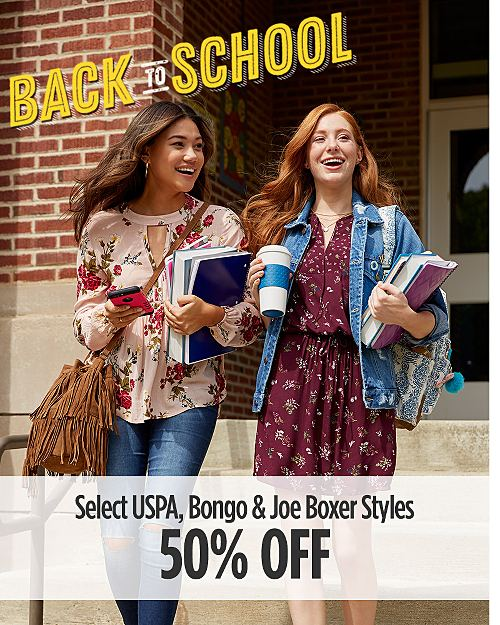 Back to School: 50% off USPA, Bongo & Joe Boxer Styles