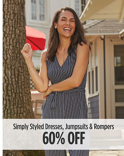 60% Off Simply Styled Dresses, Jumpsuits, & Rompers