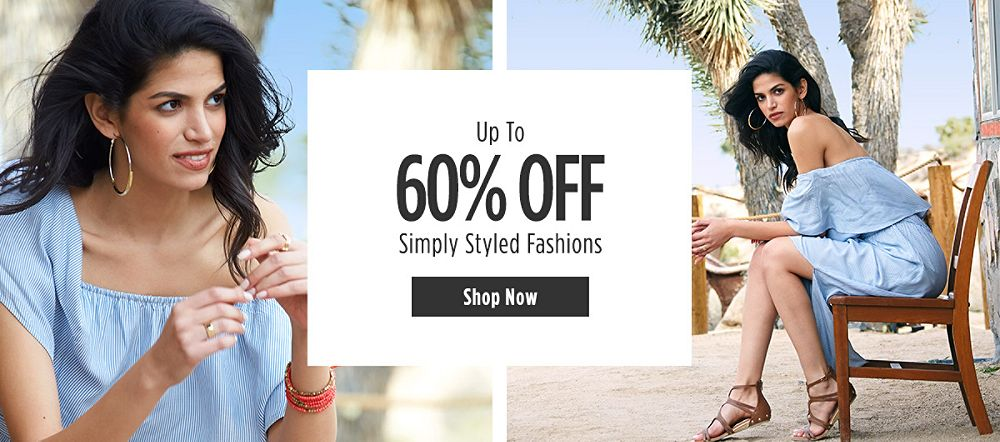 Up to 60% off Simply Styled Fashions