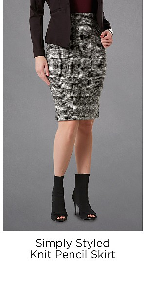 Simply Styled Women's Knit Pencil Skirt