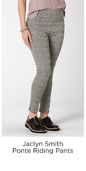 Jaclyn Smith Women's Ponte Riding Pants