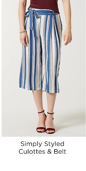 Simply Styled Women's Culottes & Belt