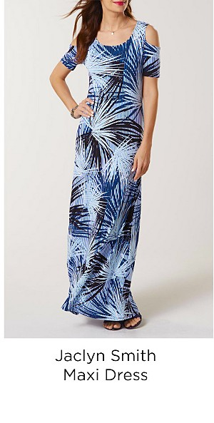 Jaclyn Smith Women's Maxi Dress - Abstract Stripes