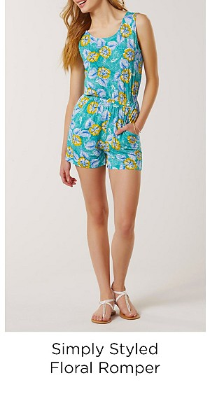 Simply Styled Women's Romper - Floral