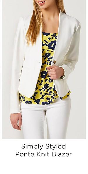 Simply Styled Women's Ponte Knit Blazer