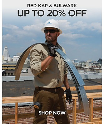 Save up to 20% off Red Kap & Bulwark