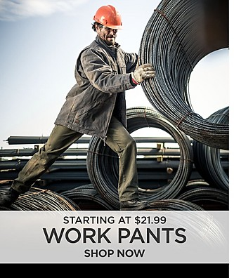Work Pants Starting at $21.99. Shop Now.