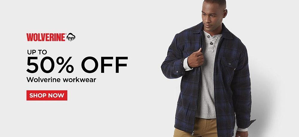 Up to 50% off Wolverine Workwear. Shop Now